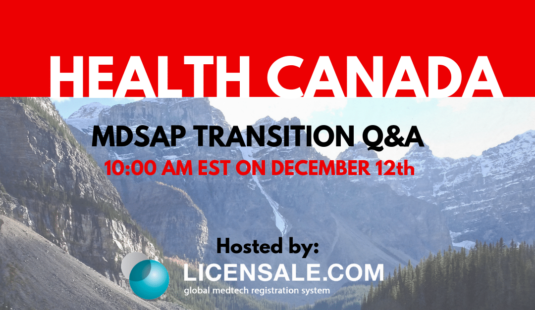 MDSAP Transition Q&A with Health Canada