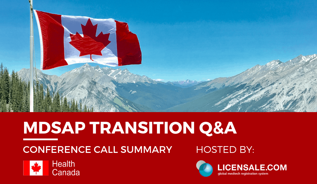 MDSAP Transition Q&A Conference Call Summary