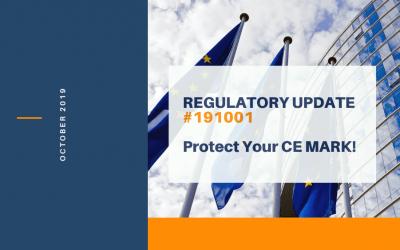 Regulatory Update #191001 – CE MARK