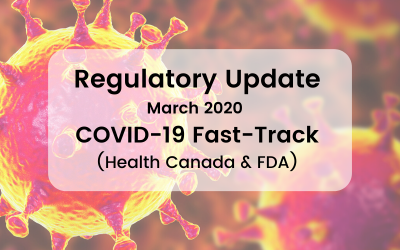 Regulatory Update – COVID-19 Fast-Tracking
