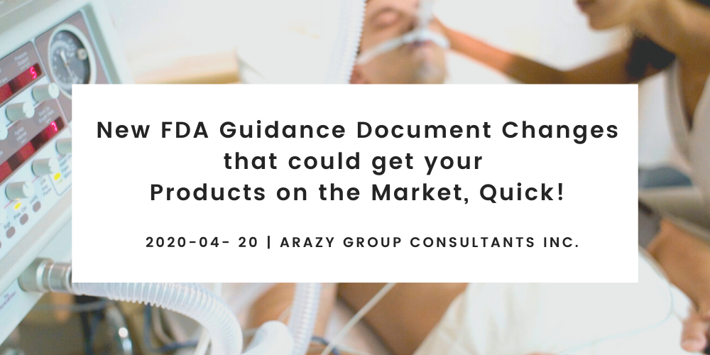New FDA Guidance Document Changes- COVID 19