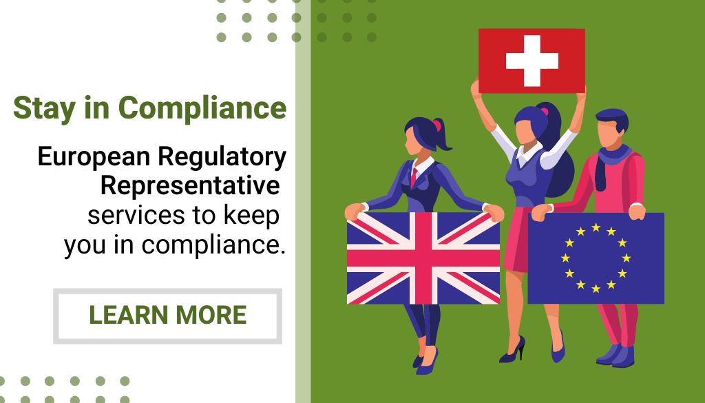 Website Pop-Up - European Regulatory Representative Services