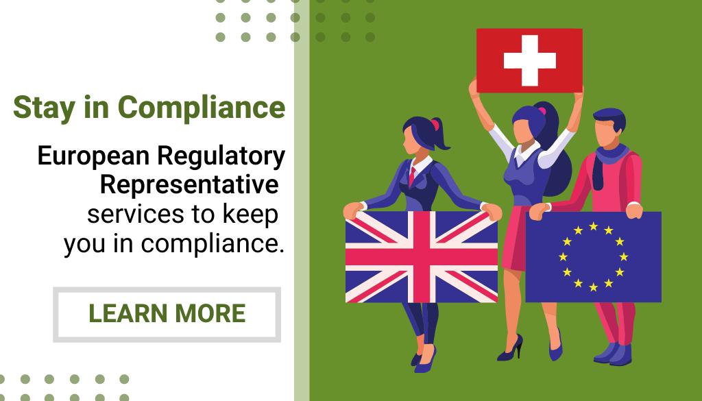 Website Pop-Up - European Regulatory Representative Services